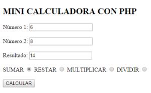 calculadora php